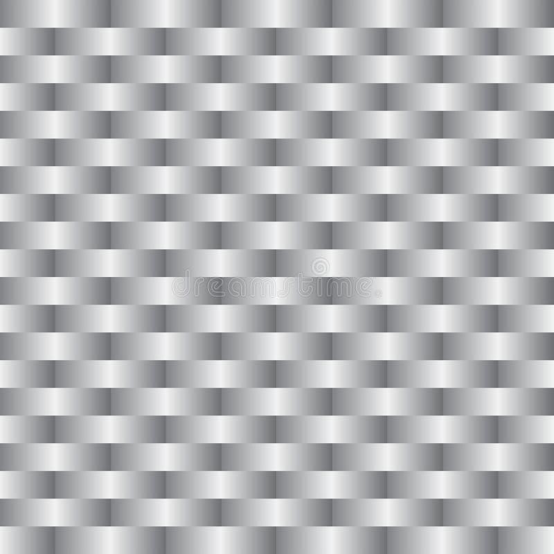 Fond d'une vannerie grise argentée illustration libre de droits
