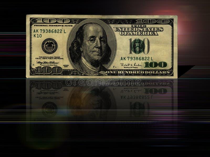 fond de $100 factures illustration libre de droits