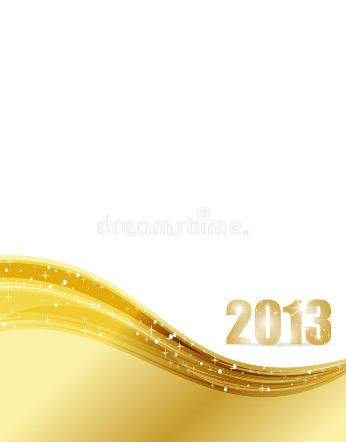 Fond de 2013 luxes illustration stock