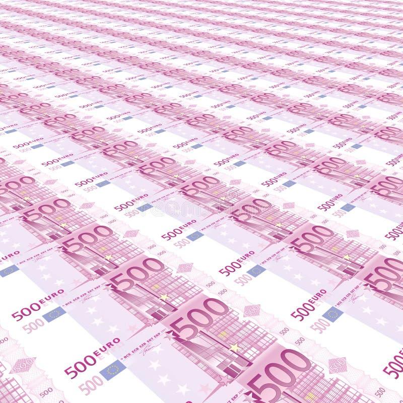 fond de 500 euro illustration de vecteur