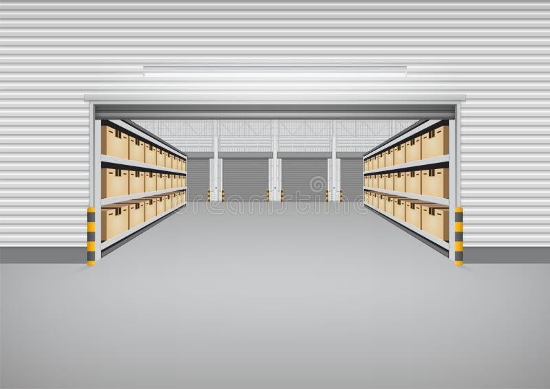 Fond de bâtiment d'entrepôt illustration libre de droits