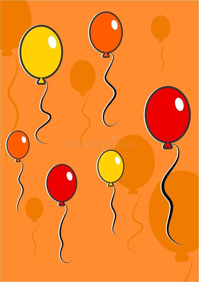 Fond de ballons illustration stock