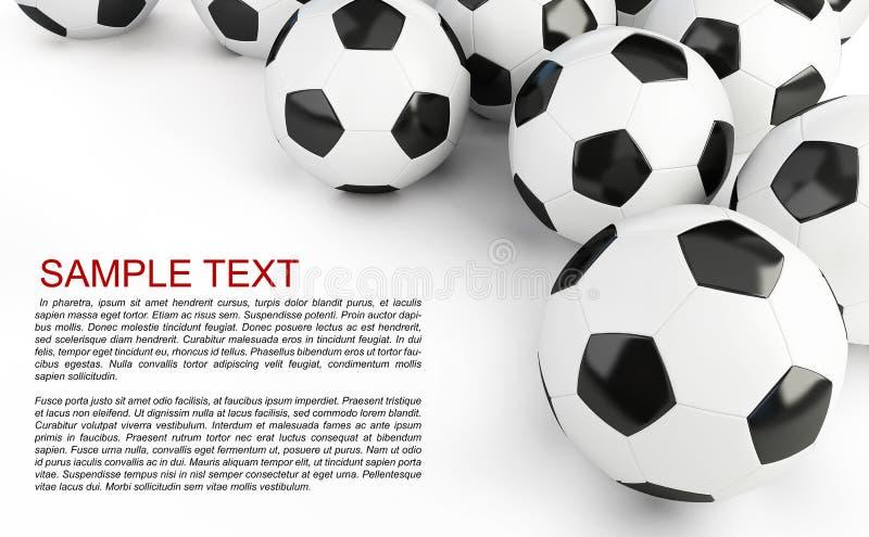 Fond de ballons de football illustration libre de droits