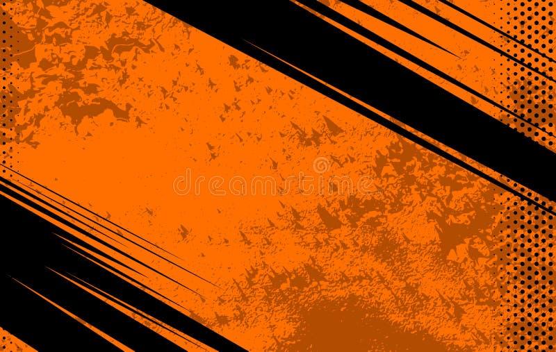 Fond de bande dessinée et de journal de vecteur Texture grunge orange Illustration avec les points tramés pour illustration libre de droits