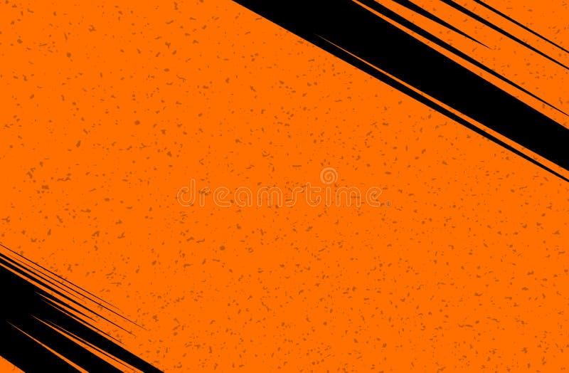 Fond de bande dessinée et de journal de vecteur Texture grunge orange Illustration avec les points tramés pour le livre et le jou illustration stock