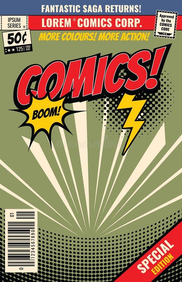 Fond de bande dessinée de vecteur avec la bulle d'éclat de bande dessinée illustration libre de droits