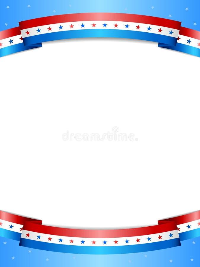 Fond de bannière étoilée illustration de vecteur