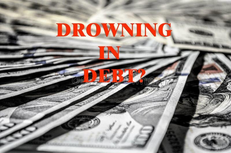 Fond de banque de crédit de dette d'argent d'USD images stock