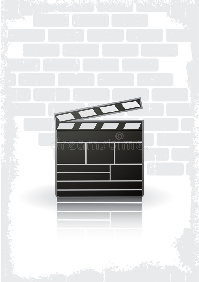 Fond de bardeau de film illustration stock
