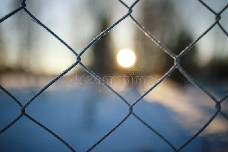 fond de barrière en métal photographie stock libre de droits