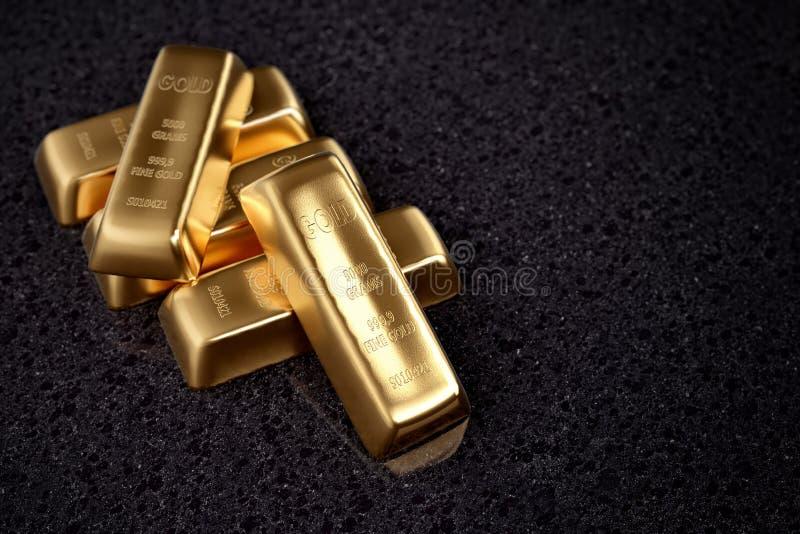 Fond de bars d'or illustration de vecteur