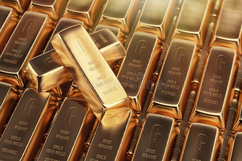 Fond de bars d'or illustration libre de droits