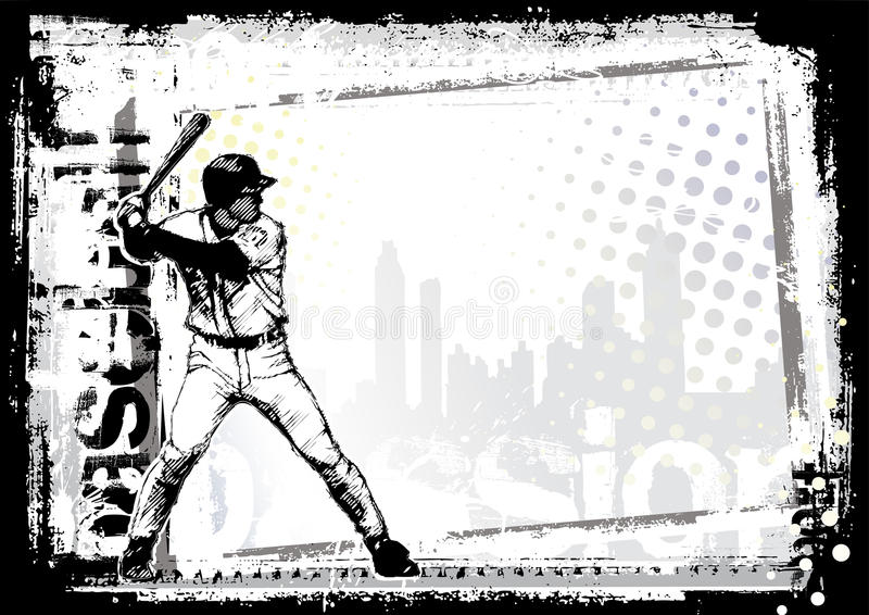 Fond de base-ball illustration de vecteur