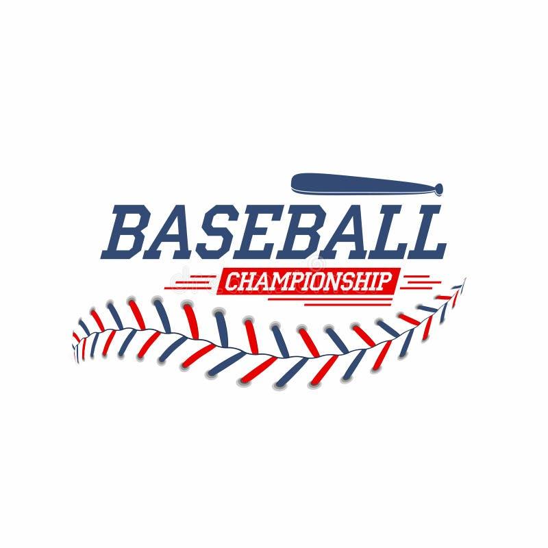 Fond de base-ball La boule de base-ball lace, pique la texture illustration de vecteur