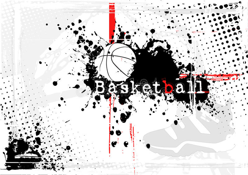 Fond de basket-ball illustration stock