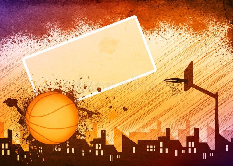 Fond de basket-ball illustration de vecteur