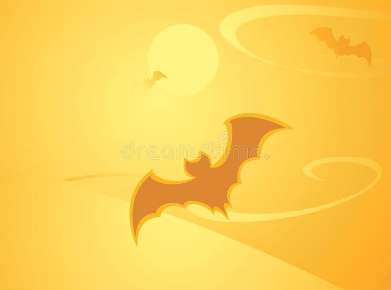 Fond de 'bat' de Veille de la toussaint illustration de vecteur
