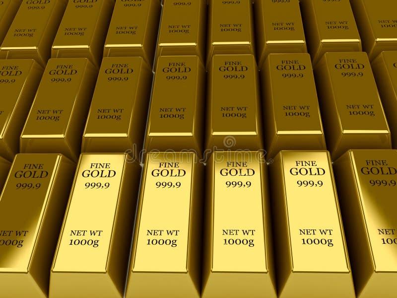 Fond de beaucoup de bars d'or. illustration libre de droits