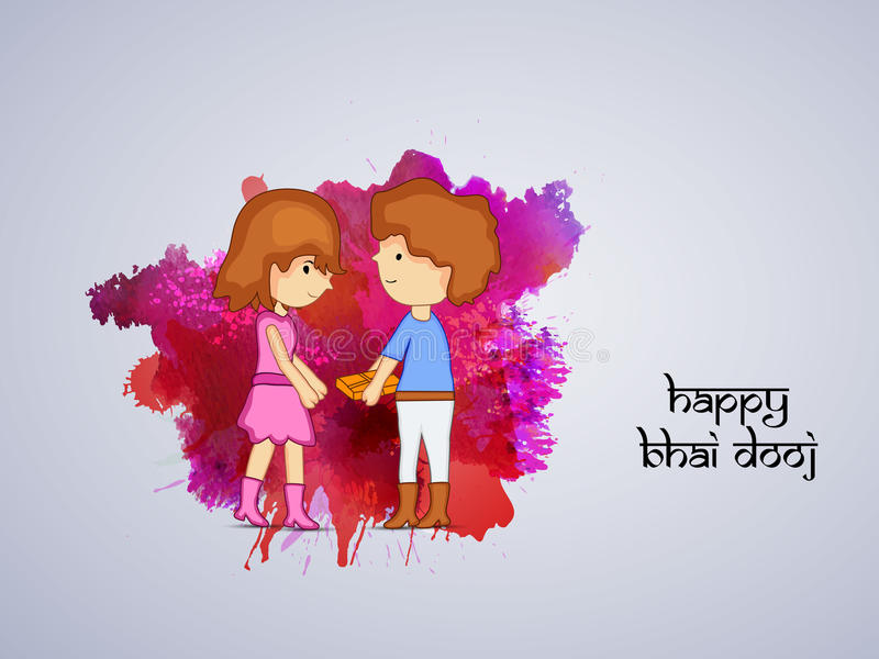 Fond de Bhai Dooj illustration de vecteur