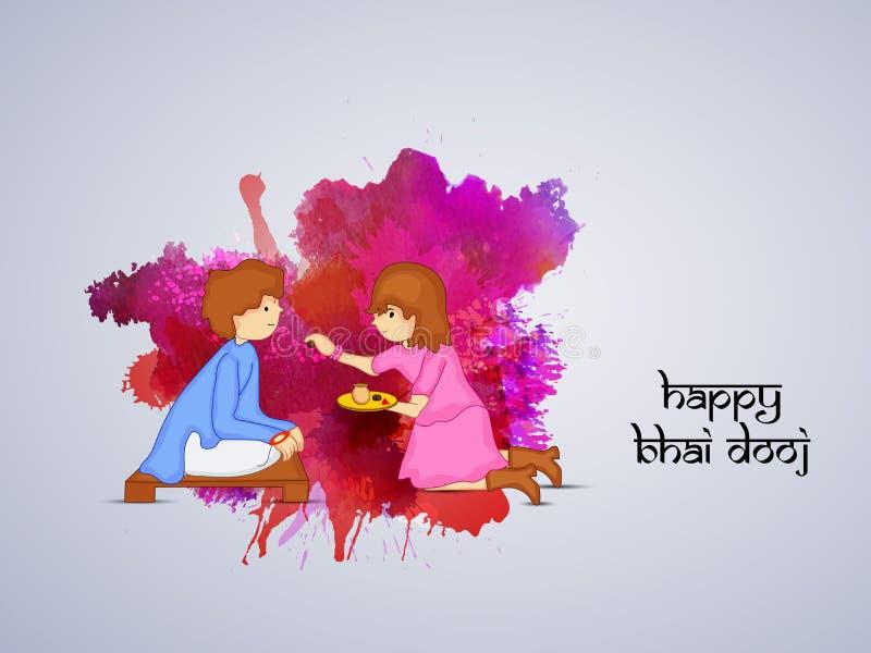 Fond de Bhai Dooj illustration libre de droits