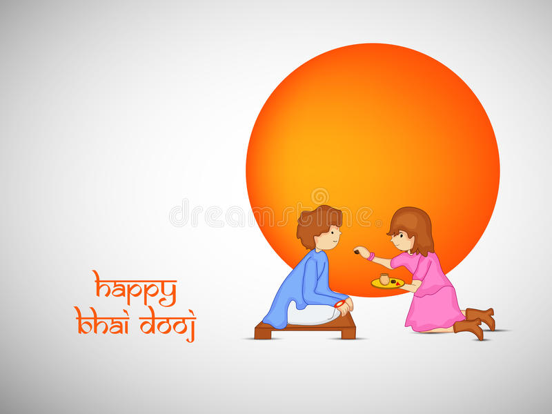 Fond de Bhai Dooj illustration de vecteur