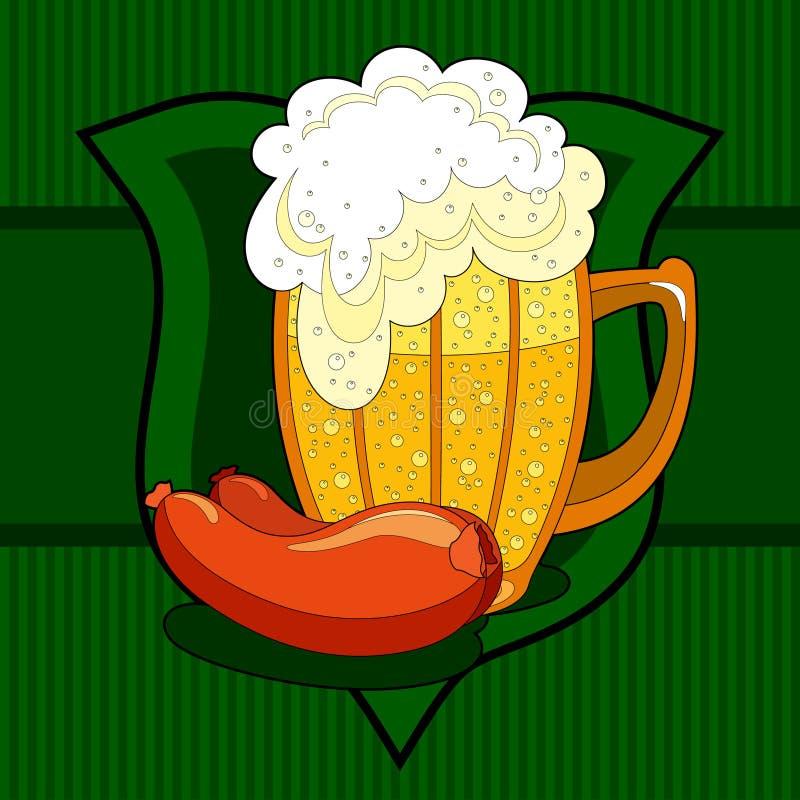 Fond de bière illustration stock