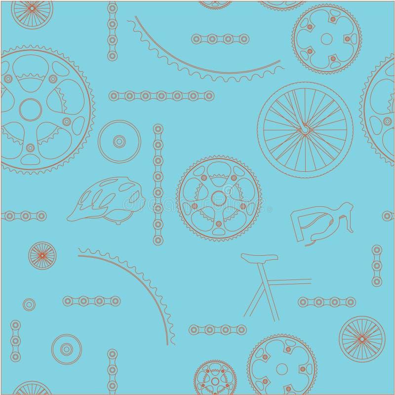 Fond de bicyclette sans joint illustration stock