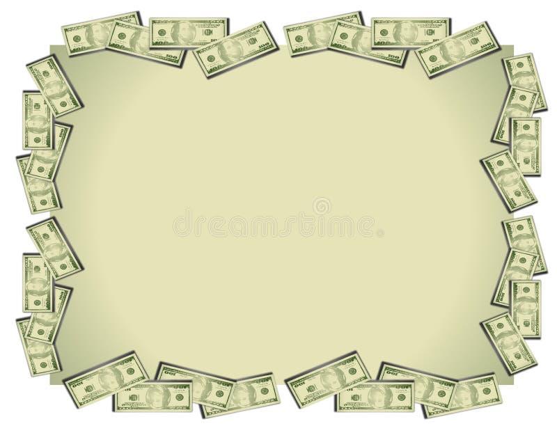Fond de billets d'un dollar d'argent illustration de vecteur