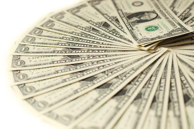 1 fond de billets de banque des dollars des Etats-Unis photo libre de droits