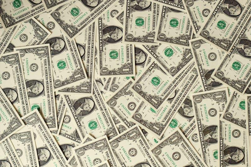 1 fond de billets de banque des dollars des Etats-Unis image stock