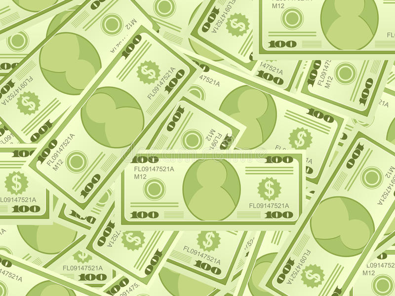 Fond de billets de banque du dollar illustration libre de droits