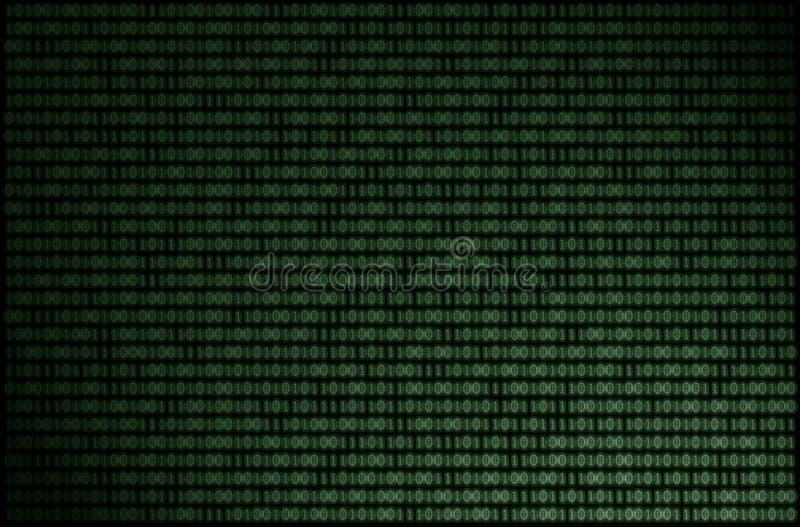 Fond de binaire de matrice illustration libre de droits