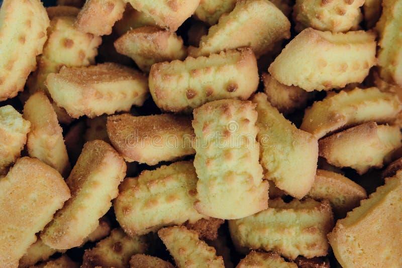 Fond de biscuits cuit au four par bonbon Plan rapproché de biscuit de confiserie photo stock