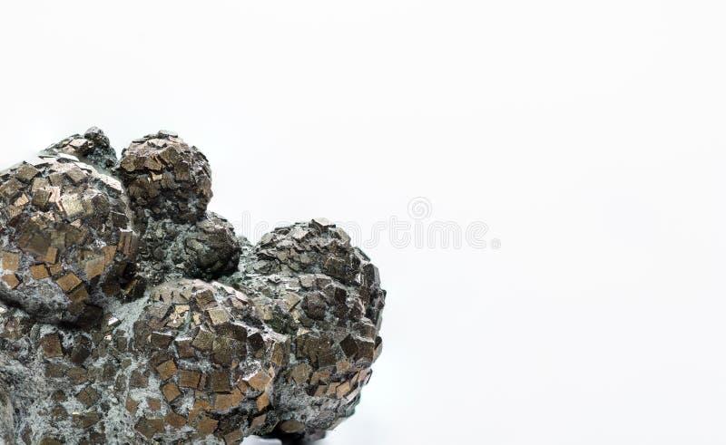 fond de blanc de boule de pyrite photos libres de droits