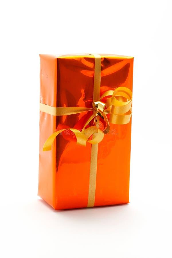 Fond de blanc de cadre de cadeau image libre de droits