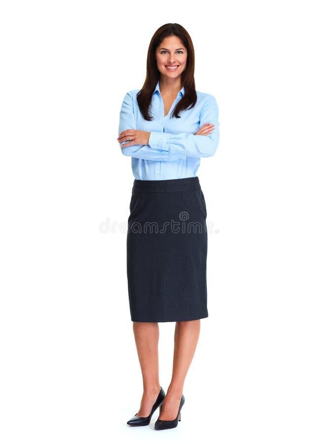 Fond de blanc de femme d'affaires images stock