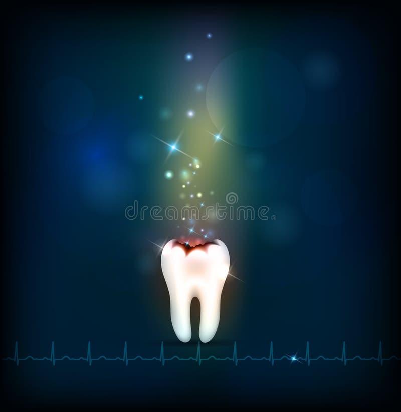 Fond de bleu d'abrégé sur carie dentaire illustration libre de droits