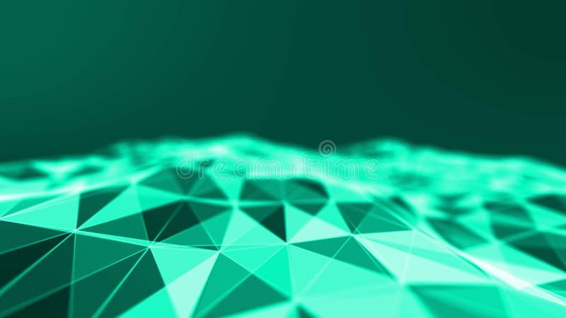 Fond de bleu d'abstact du feu Illustration de la couleur 3D d'explosion illustration stock