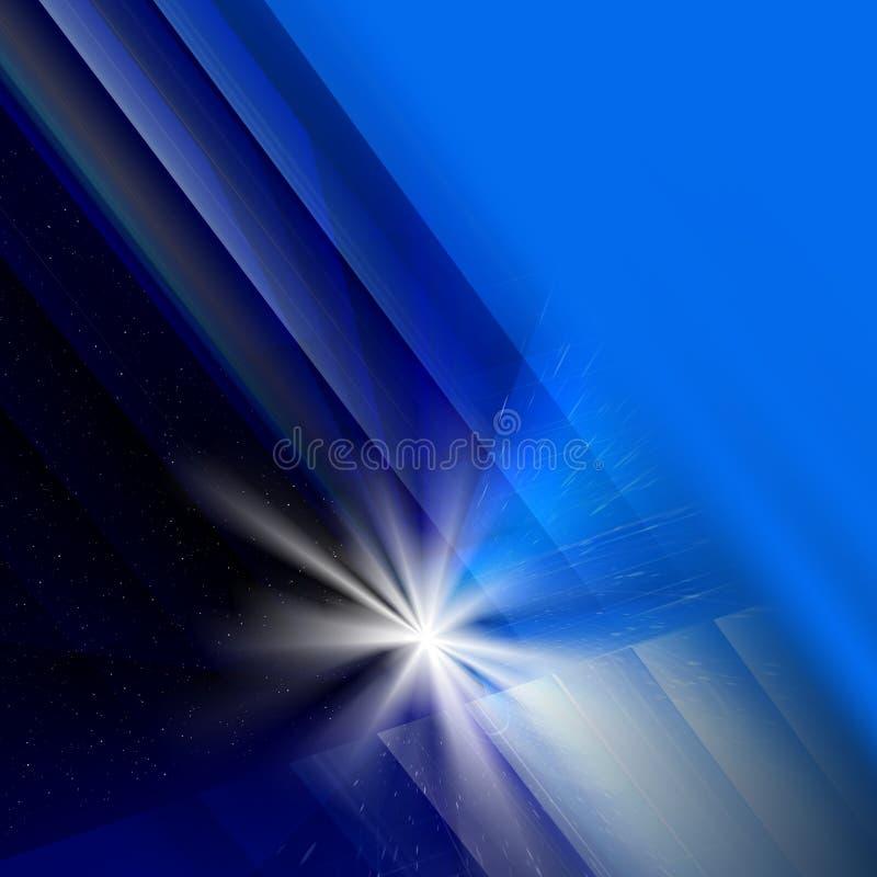 Fond de bleu d'abstraction illustration stock