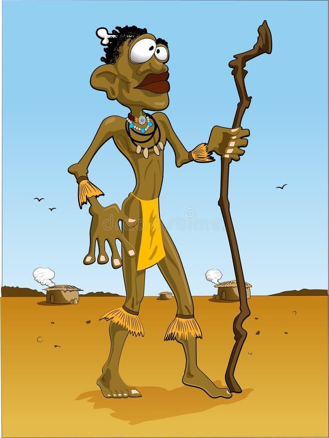 Fond de bleu d'homme/ciel de l'Afrique illustration de vecteur