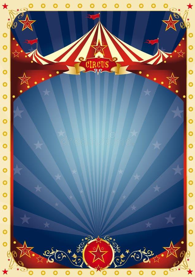 Fond de bleu de cirque illustration de vecteur