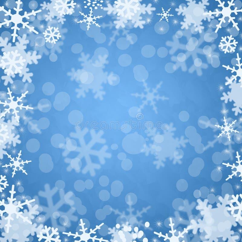 Fond de bleu de l'hiver illustration libre de droits