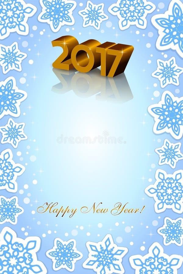 Fond de bleu de la nouvelle année 2017 photographie stock
