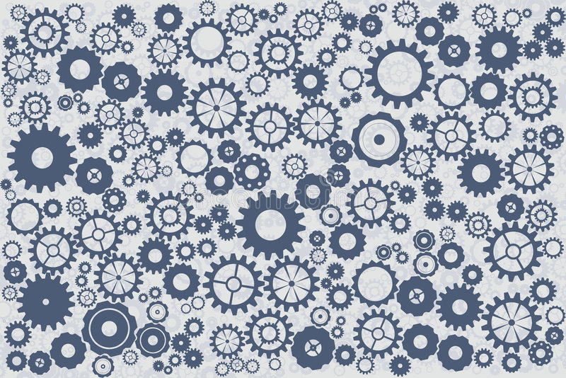 Fond de bleu de rouages d'horloge illustration stock