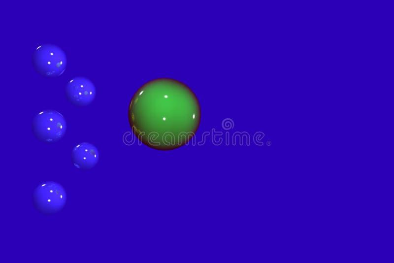 Fond de bleu de sphère illustration de vecteur
