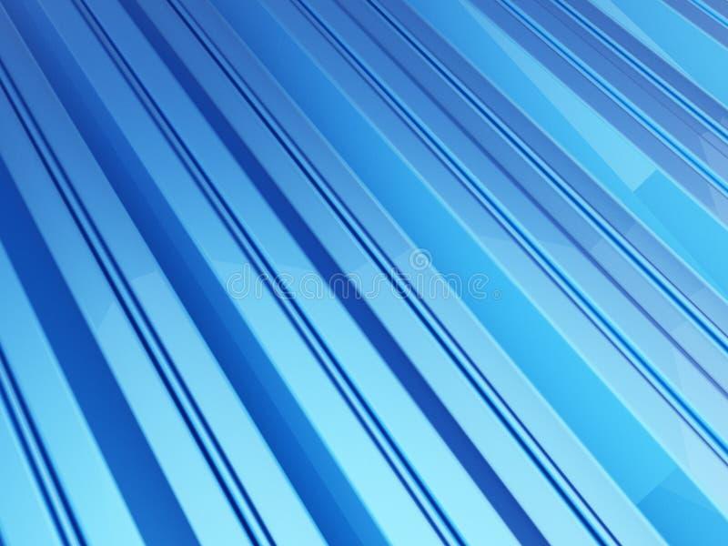 Fond de bleu de feuillard de toit illustrations 3D illustration stock