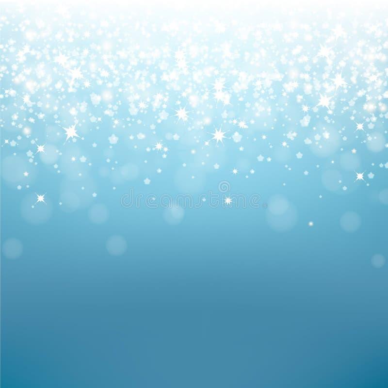 Fond de bleu de Noël illustration stock