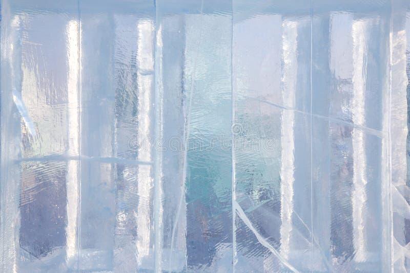 Fond de bloc de glace avec des fissures photos libres de droits