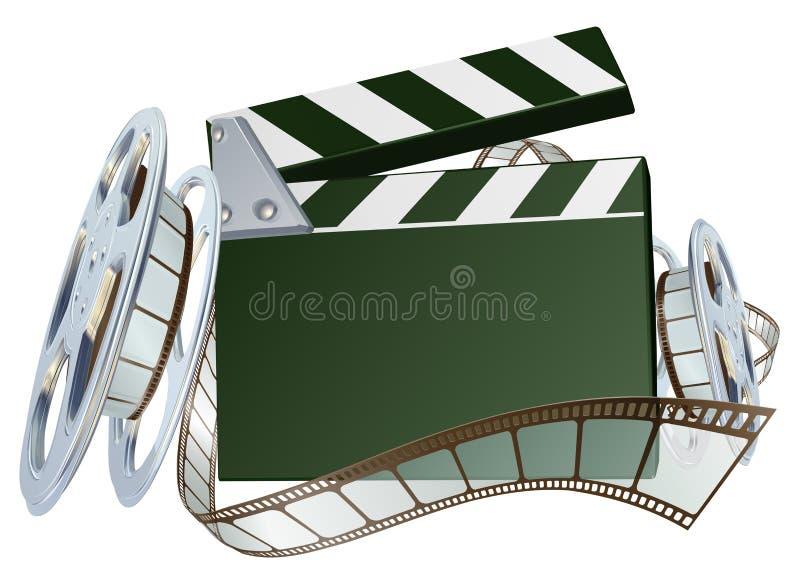 Fond de bobine de film et de panneau de clapet illustration stock