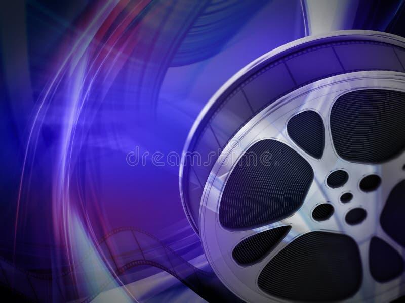 Fond de bobine de film avec l'espace de copie illustration 3D illustration stock